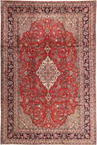 Keshan Matta 220X327 Äkta Orientalisk Handknuten Mörkröd/Ljusrosa (Ull, Persien/Iran)