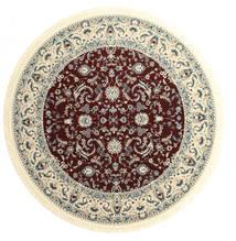 Nain Florentine - Ciemny Czerwony Dywan Ø 250 Orientalny Okrągły Beżowy/Jasnoszary/Ciemnoczerwony Duży ( Turcja)