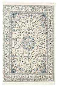Nain Emilia - Cream/Light Blue Rug 140X200 Oriental Beige/Light Grey ( Turkey)