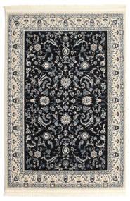 Naïn Florentine - Bleu Foncé Tapis 140X200 D'orient Noir/Gris Clair/Gris Foncé ( Turquie)