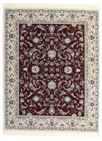 Nain Florentine - Dark Red Rug 200X250 Oriental Light Grey/Dark Red ( Turkey)