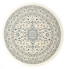 Nain Emilia - Cream/Light Blue Rug Ø 200 Oriental Round Beige/Light Grey ( Turkey)