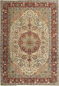 Tabriz Patina Rug 205X298 Authentic  Oriental Handknotted Light Brown/Dark Red (Wool, Persia/Iran)