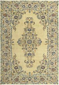Keshan Patina Rug 255X365 Authentic  Oriental Handknotted Yellow/Light Green Large (Wool, Persia/Iran)