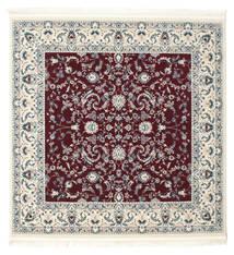 Nain Florentine - Dark Red Rug 150X150 Oriental Square Beige/Dark Red ( Turkey)