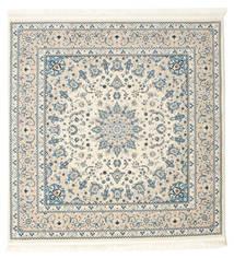 Nain Emilia - Beige/Light Blue Rug 150X150 Oriental Square Light Grey/Beige ( Turkey)