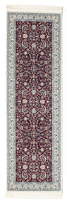 Nain Florentine - Ciemny Czerwony Dywan 80X250 Orientalny Chodnik Beżowy/Jasnoszary ( Turcja)
