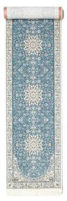 Nain Emilia - Lys Blå Teppe 80X400 Orientalsk Teppeløpere Lys Grå/Beige ( Tyrkia)