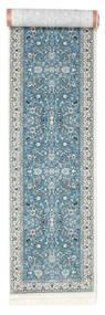 Nain Florentine - Light Blue Rug 80X400 Oriental Hallway Runner  Light Grey/Beige ( Turkey)