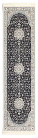Nain Emilia - Dark Blue Rug 80X300 Oriental Hallway Runner  Light Grey/Beige ( Turkey)