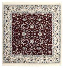 Nain Florentine - Mørk Rød Teppe 250X250 Orientalsk Kvadratisk Mørk Brun/Beige Stort ( Tyrkia)