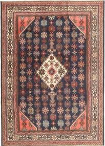 Hamadan Patina Rug 212X303 Authentic  Oriental Handknotted Dark Brown/Dark Red (Wool, Persia/Iran)
