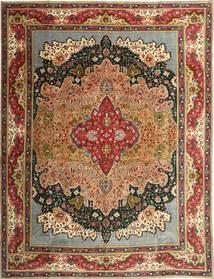 Tabriz Patina Matto 315X408 Itämainen Käsinsolmittu Ruskea/Tummanruskea Isot (Villa, Persia/Iran)