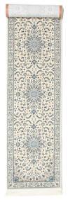 Naïn Emilia - Cream/Clair Bleu Tapis 80X350 D'orient Tapis Couloir Beige/Gris Clair ( Turquie)