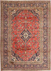 Keshan Rug 270X375 Authentic  Oriental Handknotted Light Brown/Brown Large (Wool, Persia/Iran)