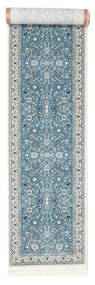 Nain Florentine - Lichtblauw Vloerkleed 80X500 Oosters Tapijtloper Lichtgrijs/Beige ( Turkije)