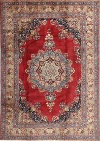 Mashad Matto 203X285 Itämainen Käsinsolmittu Vaaleanruskea/Tummanpunainen (Villa, Persia/Iran)