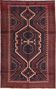 Lori Rug 160X255 Authentic  Oriental Handknotted Black/Dark Red (Wool, Persia/Iran)