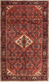 Hosseinabad Matto 142X245 Itämainen Käsinsolmittu Tummanpunainen/Ruskea (Villa, Persia/Iran)
