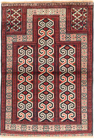 Turkaman Rug 83X123 Authentic Oriental Handknotted Dark Red/Rust Red (Wool, Persia/Iran)