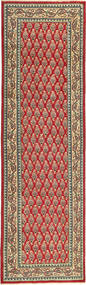 Tabriz Patina Rug 85X295 Authentic Oriental Handknotted Hallway Runner Light Brown/Rust Red (Wool, Persia/Iran)
