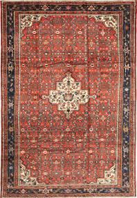 Hosseinabad Matto 209X307 Itämainen Käsinsolmittu Tummanpunainen/Tummanruskea (Villa, Persia/Iran)