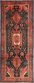 Kurdi Rug 140X342 Authentic Oriental Handknotted Hallway Runner Black/Rust Red (Wool, Persia/Iran)