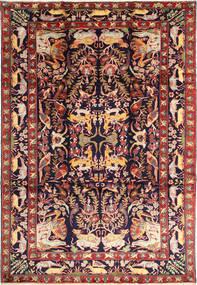 Bakhtiyar Figurativ/Pictural Covor 231X332 Orientale Lucrat Manual Roșu-Închis/Negru (Lână, Persia/Iran)