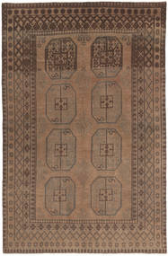 Afghan Natural Rug 154X236 Authentic  Oriental Handknotted Brown/Dark Brown (Wool, Afghanistan)