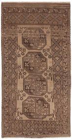Afghan Natural Rug 99X189 Authentic Oriental Handknotted Brown/Light Brown/Dark Brown (Wool, Afghanistan)
