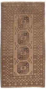 Afghan Natural Rug 99X196 Authentic Oriental Handknotted Brown/Light Brown (Wool, Afghanistan)