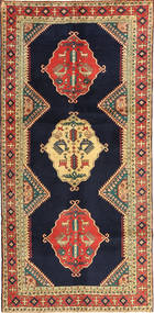 Ardebil Rug 145X303 Authentic  Oriental Handknotted Black/Light Brown (Wool, Persia/Iran)