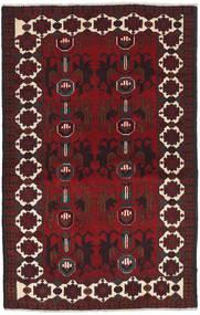 Beluch Tapijt 88X143 Echt Oosters Handgeknoopt Donkerrood/Zwart (Wol, Afghanistan)