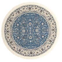 Nain Florentine - Jasnoniebieski Dywan Ø 250 Orientalny Okrągły Ciemnoszary/Jasnoszary/Niebieski Duży ( Turcja)