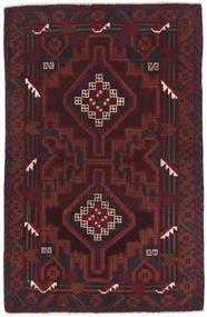 Beluch Matto 86X135 Itämainen Käsinsolmittu Tummanruskea/Tummanpunainen (Villa, Afganistan)