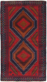 Beluch Teppe 103X184 Ekte Orientalsk Håndknyttet Mørk Rød/Mørk Lilla (Ull, Afghanistan)