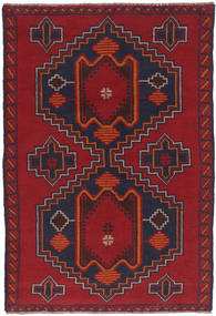 Beluch Tæppe 88X135 Ægte Orientalsk Håndknyttet Mørkerød/Mørkelilla (Uld, Afghanistan)