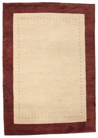 Gabbeh Indo Tapis 168X243 Moderne Fait Main Beige/Beige Foncé/Rouge Foncé (Laine, Inde)