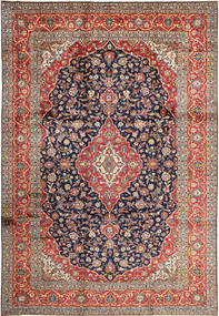 Keshan Rug 252X365 Authentic  Oriental Handknotted Dark Purple/Dark Red Large (Wool, Persia/Iran)