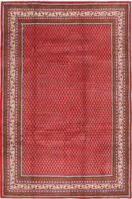 Sarough Mir Matto 211X318 Itämainen Käsinsolmittu Tummanpunainen/Punainen (Villa, Persia/Iran)
