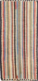 Kelim Fars Teppe 152X320 Ekte Orientalsk Håndvevd Mørk Grå/Lysbrun (Ull, Persia/Iran)