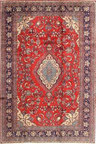 Hamadan Shahrbaf Matta 213X320 Äkta Orientalisk Handknuten Roströd/Mörkröd (Ull, Persien/Iran)