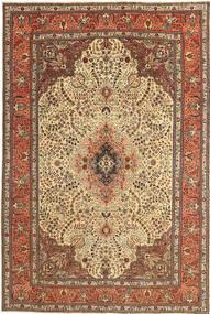 Tebriz Patina Dywan 195X295 Orientalny Tkany Ręcznie Jasnobrązowy/Ciemnobeżowy (Wełna, Persja/Iran)