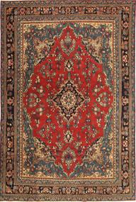 Hamadan Patina Matto 210X312 Itämainen Käsinsolmittu Tummanharmaa/Tummanpunainen (Villa, Persia/Iran)