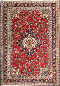 Hamadan Patina Rug 205X305 Authentic Oriental Handknotted Dark Red/Rust Red (Wool, Persia/Iran)