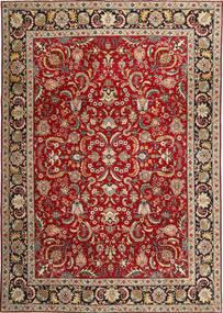 Tabriz Patina Matto 245X350 Itämainen Käsinsolmittu Tummanpunainen/Tummanruskea (Villa, Persia/Iran)