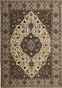 Tabriz Patina Matto 245X350 Itämainen Käsinsolmittu Tummanruskea/Vaaleanruskea (Villa, Persia/Iran)
