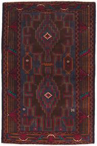 Beluch Matto 86X137 Itämainen Käsinsolmittu Tummanruskea/Tummanpunainen (Villa, Afganistan)