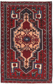 Baluch Rug 82X137 Authentic  Oriental Handknotted Dark Red (Wool, Afghanistan)