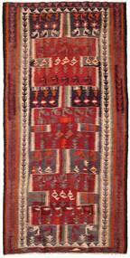 Kelim Fars Matto 145X288 Itämainen Käsinkudottu Tummanpunainen/Tummanruskea (Villa, Persia/Iran)